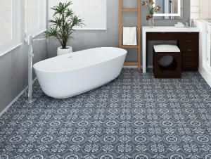retro tile in bathroom