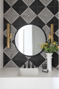 tile backsplash in bathroom