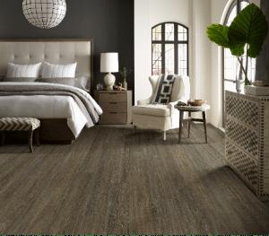 luxury vinyl flooring in bedroom