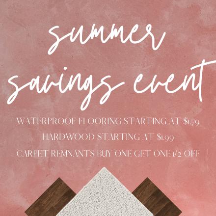Summer savings event | Flooring Attic